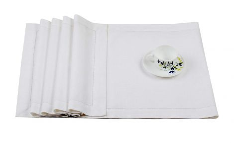 Cotton Slub with Hem Dinner Table Runner 40x228 CM - White