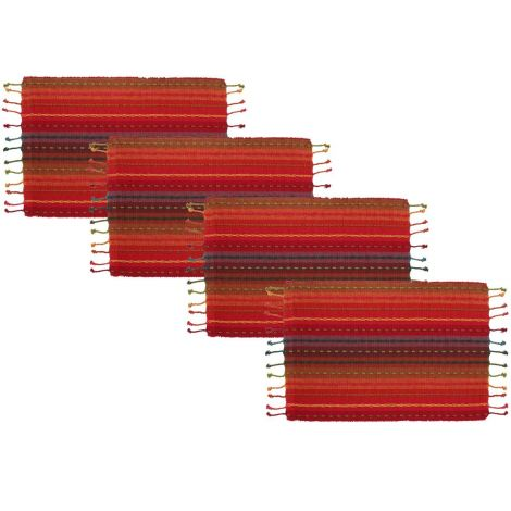 SweetNeedle - Stripe Hand-Knotted Fringe Table Runner-1