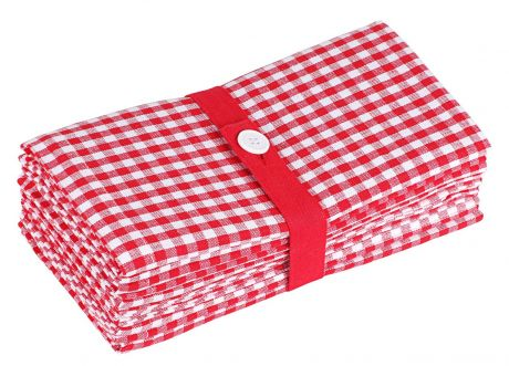 SweetNeedle - Gingham Checks Dinner Napkins-1