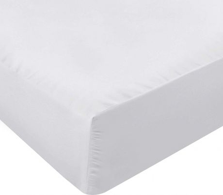 SweetNeedle - Fitted Bed Sheet 200 Thread Count Full Size - White