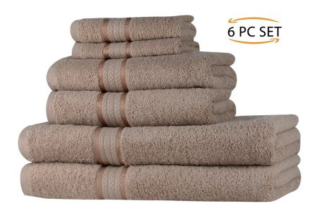 Super Soft 6 Piece Towel Set - Linen