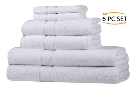 Super Soft 6 Piece Towel Set - White