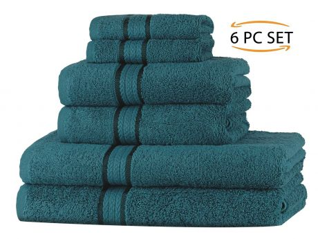 Super Soft 6 Piece Towel Set - Teal