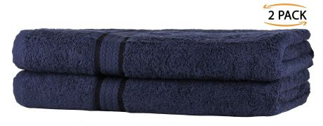 Super Soft 2 Pack Bath Sheets - Navy