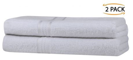Super Soft 2 Pack Bath Sheets - White