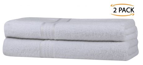 Super Soft 2 Pack Bath Towels - White