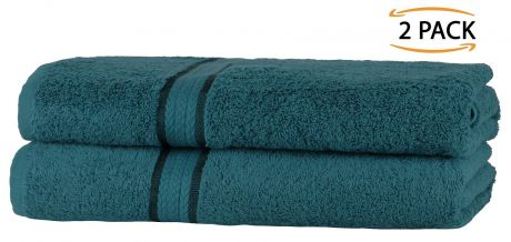 Super Soft 2 Pack Bath Towels - Teal