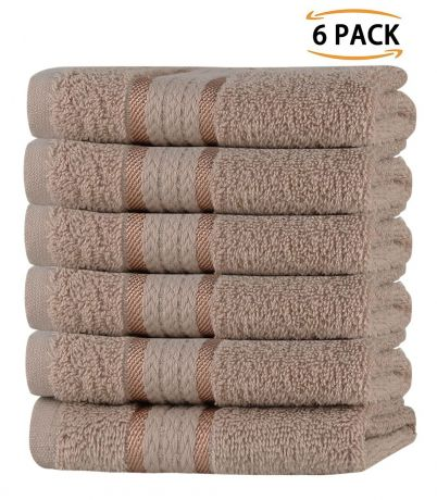 Super Soft 6 Pack Washcloths - Linen