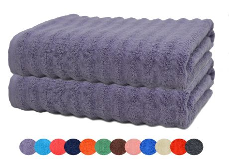SweetNeedle - Zero Twist Bumpy Ribbed Bath Towel-1