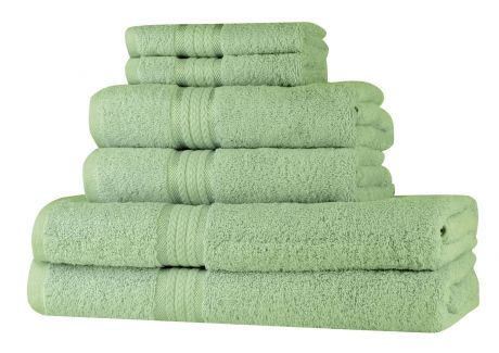 Super Soft 6 Piece Towel Set - Sage Green