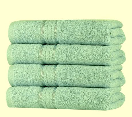 Super Soft 4 Pack Hand Towels - Sage Green
