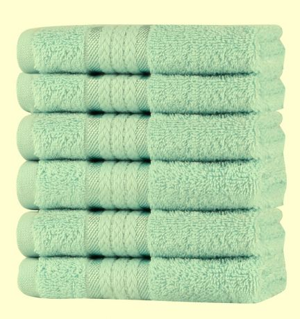 Super Soft 6 Pack Washcloths - Sage Green