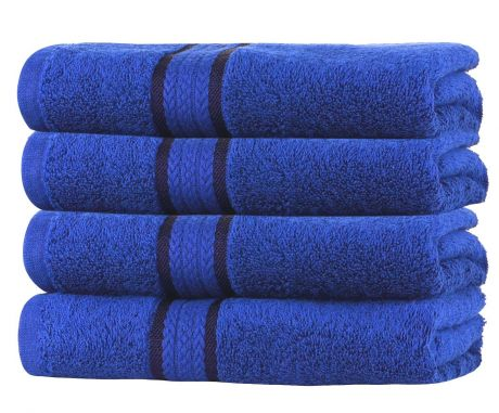 SweetNeedle - Super Soft 4 Pack Hand Towels - Royal Blue