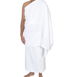 SweetNeedle - 2 Pack Ihram Ehram Towel for Men for Hajj and Umrah - White