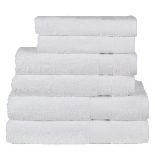 Daily Use 6 Piece Towel Set - White
