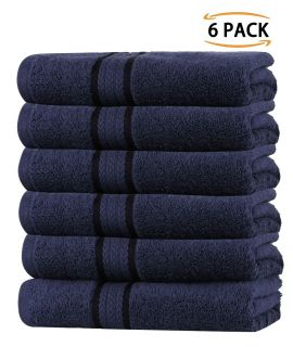 Super Soft 6 Pack Washcloths - Navy