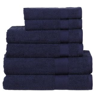 Daily Use 6 Piece Towel Set - Navy