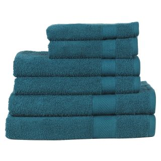 Daily Use 6 Piece Towel Set - Teal