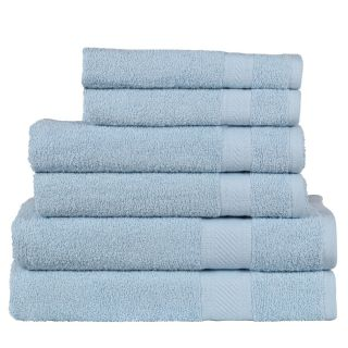 Daily Use 6 Piece Towel Set - Light Blue