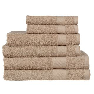 Daily Use 6 Piece Towel Set - Linen