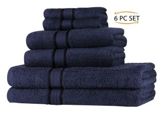 Super Soft 6 Piece Towel Set - Black