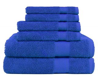 Daily Use 6 Piece Towel Set - Royal Blue