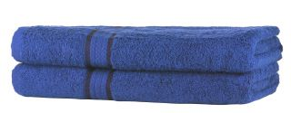 SweetNeedle - Super Soft 2 Pack Bath Towels - Royal Blue