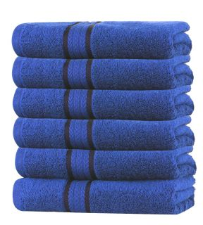 Super Soft 6 Pack Washcloths - Royal Blue