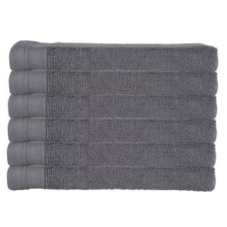 Eco-Organic 6 Pack Washcloth Towels - Charcoal