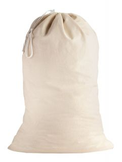 SweetNeedle - 1 Pack Cotton Extra-Large Heavy Duty Laundry Bags - Natural