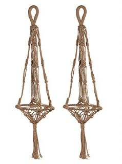 2 Pack Plant Hanger Jute Plant Pot Holder - Natural