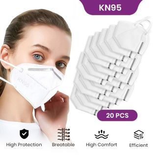 KN95 Face Mask Pack of 20, Anti Dust Mask, Reusable, Skin Friendly Unisex Mouth Mask,Soft Smooth Lining Material, Outdoor Activities