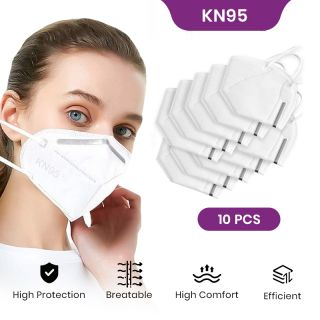 KN95 Face Mask Pack of 10, Anti Dust Mask, Reusable, Skin Friendly Unisex Mouth Mask,Soft Smooth Lining Material, Outdoor Activities