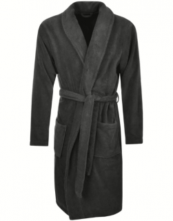 Men's Terry Bathrobe with Pockets - Charcoal
